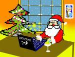Дед Мороз проверяет почту. Автор Афонина Ксения, 5 класс