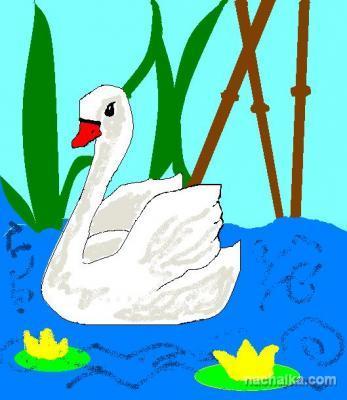"""Иллюстрация к сказке """"Гадкий утенок"""", автор Малахова Ксения, 3 класс"""
