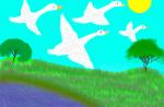 """Александров Даниил. Иллюстрация к сказке Г.Х. Андесена """"Гадкий утенок"""""""