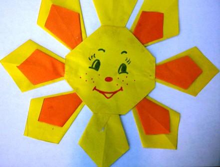 солнышко - аппликация