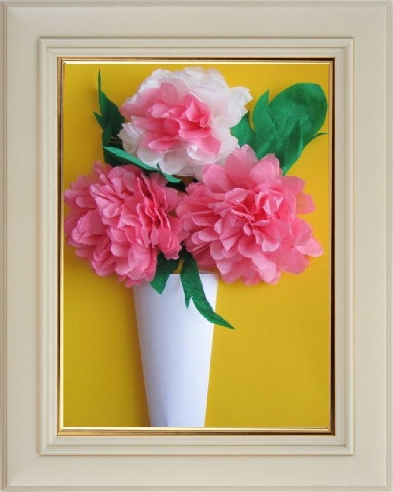 Картина с цветами из бумаги своими руками 47