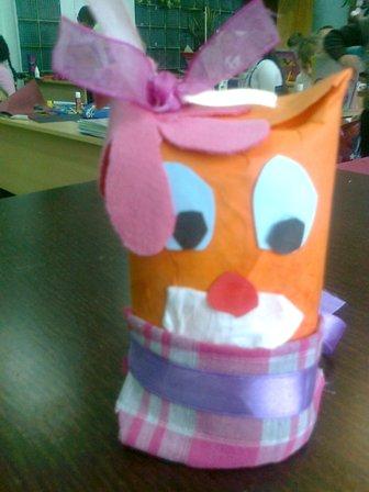 игрушка из картонной трубочки