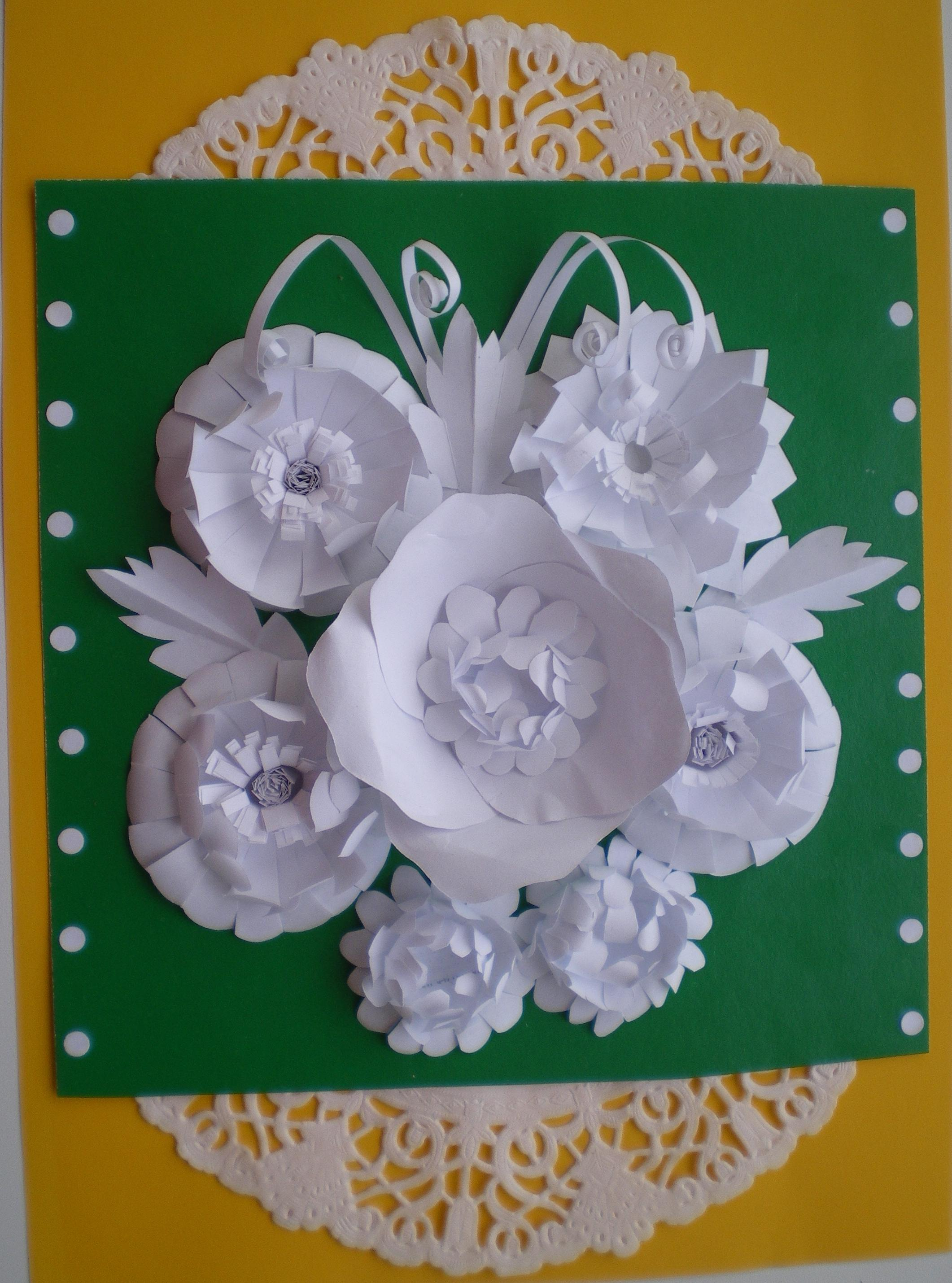 Бумагопластика цветы своими руками